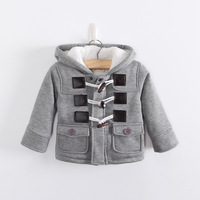 Baby Boys Jacket Clothes Big size 2-5 Years Boys Winter 2 Color Outerwear Coat Thick Kids Clothes Children Clothing With Hooded