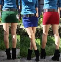 Pollera De Jeans Green Mini denim saia jeans shorts vintage short skirt Polleras Falda fashion red saia jeans