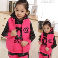 Autumn 2013 children's clothing girls autumn wave of Korean children winter new children three-piece track suit free shipping