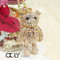 Diamond crystal usb flash drive 32G jewelry  plate diamond necklace usb flash drive personalized accessories