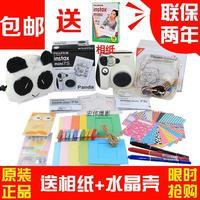 free shipping ! 100% original Fuji once imaging polaroid black-and-white mini7s 7s mini camera bundle  , in stock