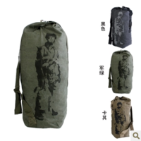 Extra large canvas 90cm big bucket bag mountaineering bag travel bag luggage moving package 100 bag backpack