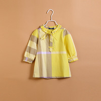 CS3146 Cotton blouse Kids  shirt childrenclassical plaid kids blouse princess shirt autumn long sleeve shirt high quality