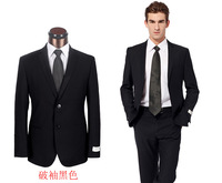 Black/Navy Blue Men Top Quality Dress Suit Fashion Business Suit Brand Formal Tuxdeo Jacket+Pants Big Size