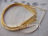 Free shipping!!!Bulk 100piece 3mm Gold plated (more color can pick up ) Metal Headband Hair Head Band Accessories Findings