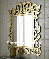 bathroom venetian style wall mirror with gold frames