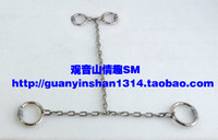 Novelty sex products metal stainless steel hfmd collar handcuffing gyve