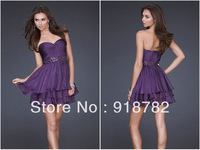Hot Sale Fashion Mini Short Cocktail Dress Beaded Strapless Formal Gowns