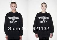 Free Shipping Super Stars Same Item Eagle Letter Print Round Neck Plus Size Hip Pop Style Unisex Hoodie Sweatshirt Coat Black