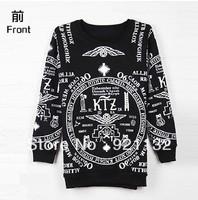 Free Shipping Super Stars Same Item Letters Print Round Neck Plus Size Hip Pop Style Unisex Hoodie Sweatshirt Coat Black