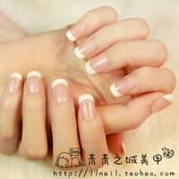 NEW 2014 High Quality french False Nails,elegant OL natural Fake Nail,acrylic Nail Tips,24 pcs+ 24 pcs ,Free Shipping