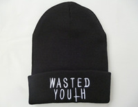 Wasted Youth knit beanies most popular mens hip hop skullies snapbacks cap black top quality !