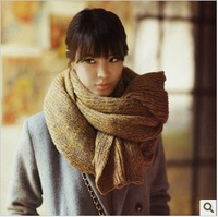 2013 blended-color yarn scarf ultra long super warm thickening knitted autumn and winter lovers muffler scarf