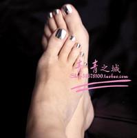 NEW 2014 High Quality multicolour Metal TOE Nails/False Nails/Fake Nail/Nail Tips,24 pcs,Free Shipping