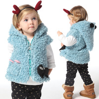 free shipping  3pcs / lot  baby girls clothing for winter  child  fashion vest girls vest    pink / white / blue