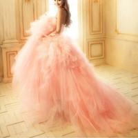 2013 princess wedding dress formal dress luxury big train sweet style V-neck strap beading wedding dress