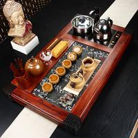 Kiln rosewood tea tray set yixing purple clay tea set kung fu tea set