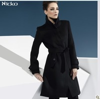 Limited edition new arrival 2014 ruslana korshunova cold season anti lengthen stand collar wool outerwear overcoat