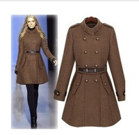 2013 gold sweet gentlewomen stand collar wool coat outerwear