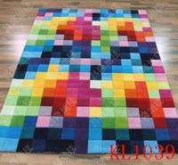 Fashion brief modern living room coffee table plaid pure wool carpet