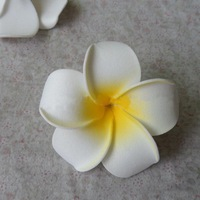 100 PCS/pack, 6.5CM/PCS,artificial real touch EVA foam frangipani flower,Wedding decor&DIY craft hair jewelry accessories!