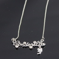 Cinderella letter necklace popular ol brief
