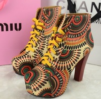 Autumn fashion high-heeled 2013 jeffrey campbell  sun ankle platform  motorcycle boots  martin boots and women winter shoes