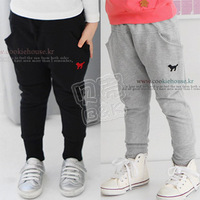 2013 autumn and winter boys girls clothing child fleece long trousers breeched