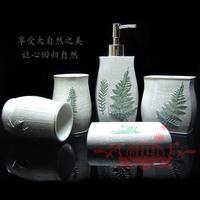 Toothbrush holder lovers bathroom set kit resin bathroom five pieces set of bathroom wedding gifts