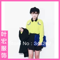2013 new autumn candy colored birds embroidered pullover casual loose round neck sweater