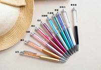 Crystal pen exquisite little luxury multicolor