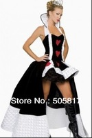 Sexy Heart Noble Queen Cosplay Costume Women Night Club Wear Fancy Classic Halloween Costume XMAS Uniform festival P1048
