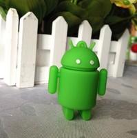 Free shipping wholesale 10pcs/lot green robot model usb 2.0 memory stick flash pen drive