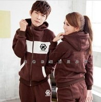Sweethearts outfit!!!!2013 fashion men Autumn Winter hoodies suit , Warm leisure sports Hoodie /M-XXL, 5 color/Free shipping