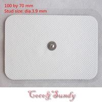 20 pcs/lot100*70mm  Premium reusable self adhensive tens/ems replacement Electrode pads with 3.9 Stud
