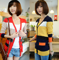 Sweater female 2013 spring and autumn women's plus size cardigan female sweater medium-long thin outerwear