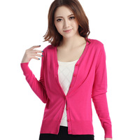 2013 autumn long-sleeve outerwear female thin wool cardigan plus size ol all-match sweater female