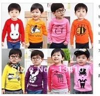 Girl's baby  T-shirt ,  autumn boy clothes show, long-sleeved T-shirt unlined upper garment