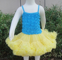 2013 newest design dresses rosette dress