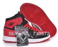 Free shipping new release men 1:1 top quality  j1 J JD AJ I bred black red retro basketball shoes