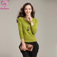 Female women's pullover sweater low o-neck sweater basic female autumn long-sleeve shirt  Cardigan Spanish Basic Jackets