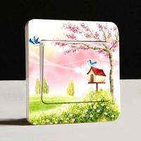Free shipping 10pcs / lot creative home furnishing supplies decorative wall switch sticker