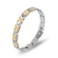 Titanium fashion gold butterfly stainless steel bracelet women's bracelet