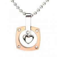 Rose gold girl pendants titanium accessories rotation
