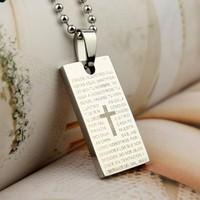 Square bible pendant silver Small accessories