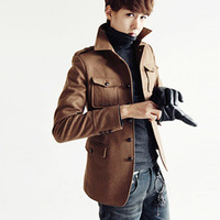 2013 men's autumn and winter clothing male jacket male jacket outerwear male slim casual jacket plus cotton  freeship