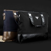 Fashion horizontal one shoulder cross-body fashion commercial male handbag waterproof oxford fabric casual man bag