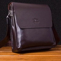Australia kangaroo man bag genuine leather shoulder bag messenger bag leather bag 9931