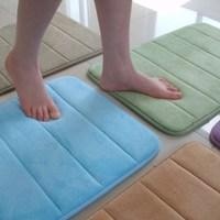 Slow rebound memory foam bathroom slip-resistant absorbent mats doormat carpet bath mat 60x40CM