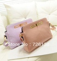 2013 new Korean version of the candy -colored bag shoulder diagonal packet collision color temperament female bag